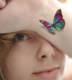 3D colorful temporary tattoo