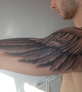 3D style wings tattoo