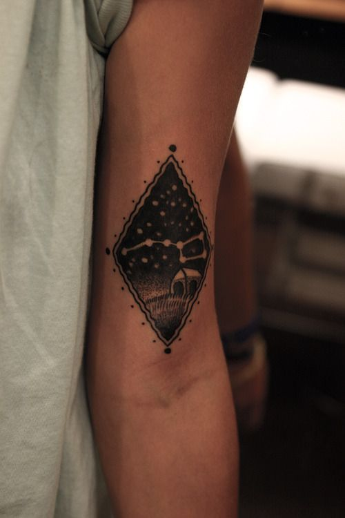 Abstract style picture tattoo