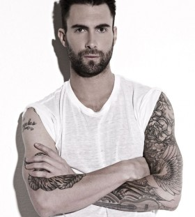 Adam Levine hot singers tattoo