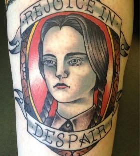 Adams family Wednesday halloween tattoo