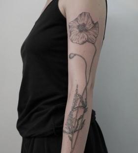 Adorable black Victor J Webster tattoo