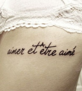 Adorable black meaningful tattoo