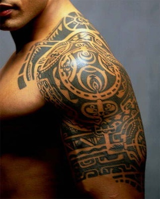 Adorable black men's shoulder tattoo