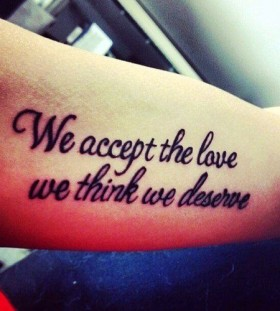 Adorable black quote tattoo
