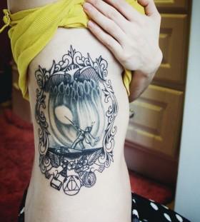 Adorable women's accio tattoo