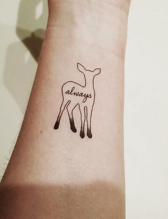 Always deer small tattoo