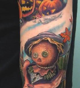 Amazing arm's halloween tattoo