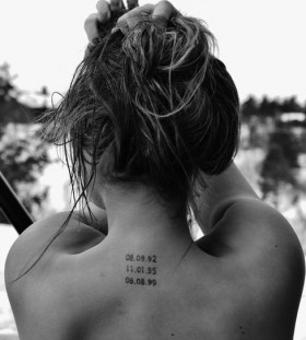 Amazing back love tattoo