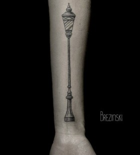 Amazing black Ilya Brezinski tattoo