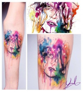 Amazing looking tattoo by Candelaria Carballo