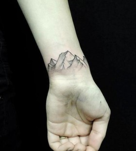 Amazing mountains inspiring tattoo