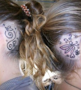 Amazing ornaments tattoo on head