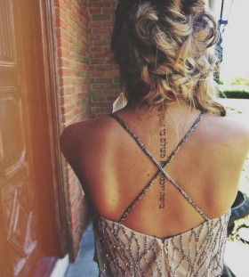 Amazing women's fashion style tattoo
