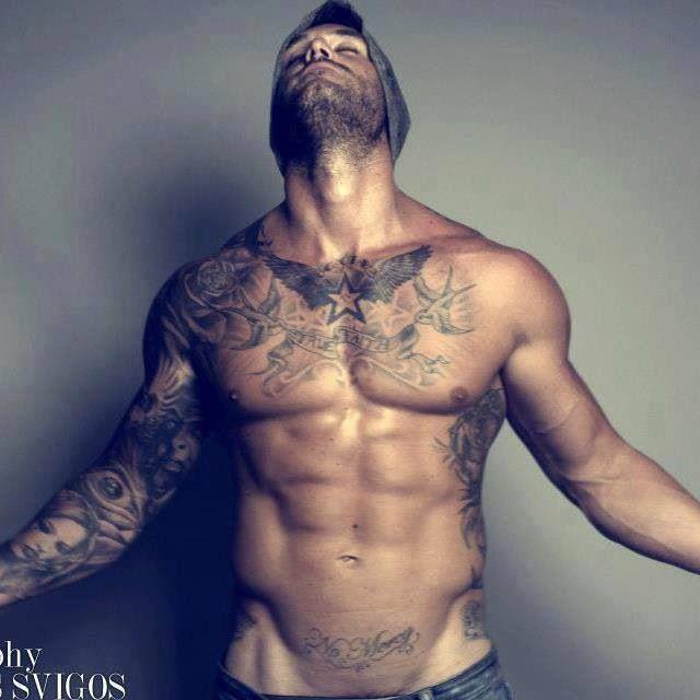 American style bird's men's tattoos