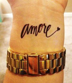 Amore black love tattoo