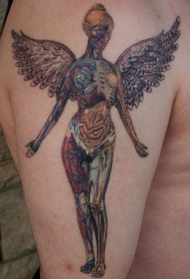 Angel style nirvana tattoo