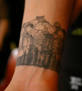 Awesome chil tattoo by Edward Gorey