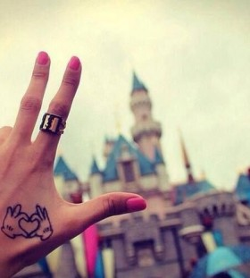 Awesome heart and disney tattoo
