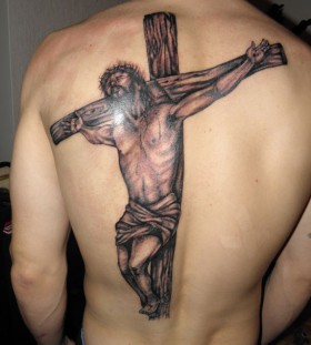 Awesome looking cross tattoo