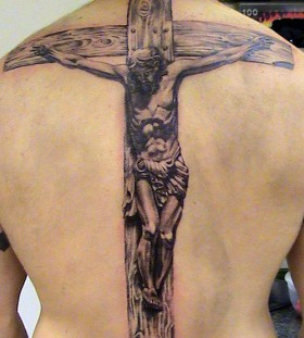 Awesome men's cross tattoo