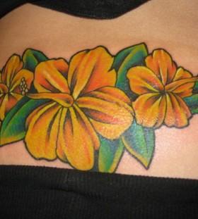 Beautiful hisbiscus sunflower tattoo