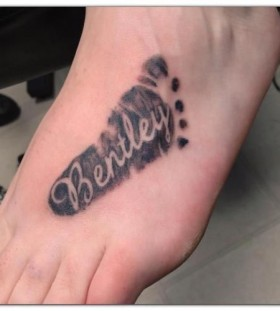 Bentley great looking foot tattoo