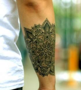 Berlin black compass tattoo