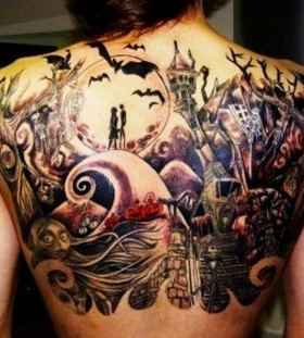 Best back halloween tattoo