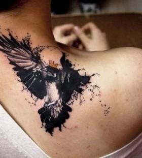 Bird black magic tattoo