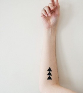 Black amazing temporary tattoo