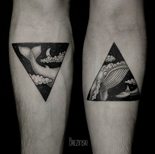 Black and white Ilya Brezinski tattoo