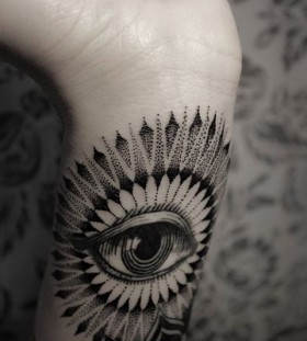 Black dot's eye tattoo
