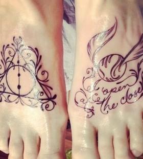 Black foot accio tattoo