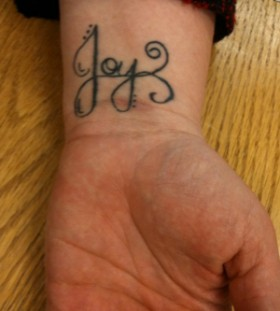 Black joy clarinet tattoo
