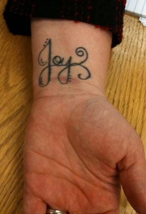 Black joy clarinet tattoo