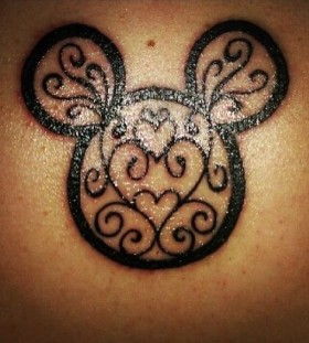 Black lovely disney tattoo