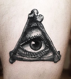 Black lovely eye tattoo