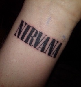 Black quote nirvana tattoo