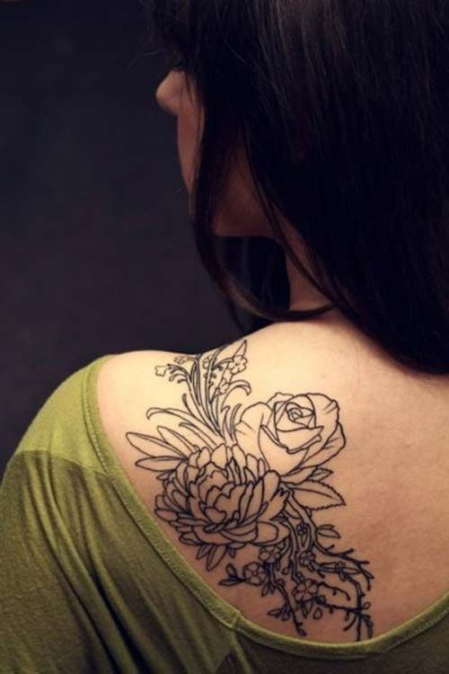 Black roses picture tattoo