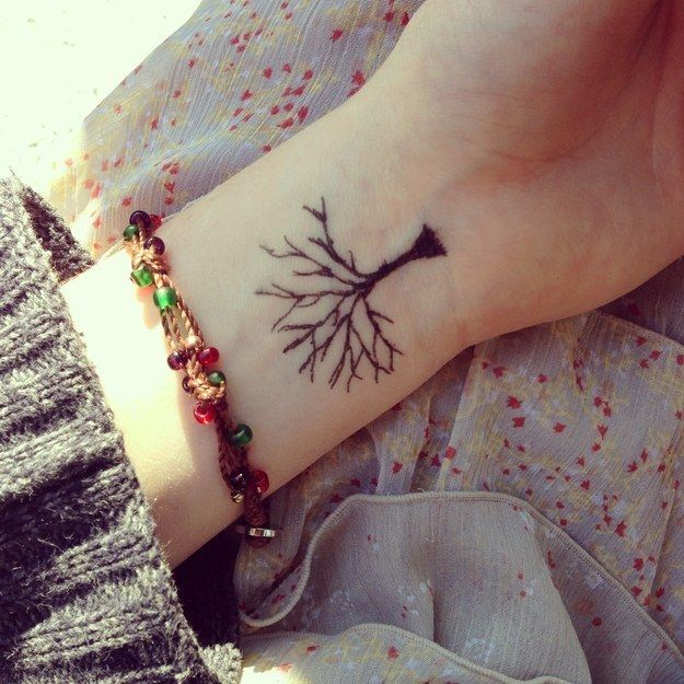 Black tree inspiring tattoo