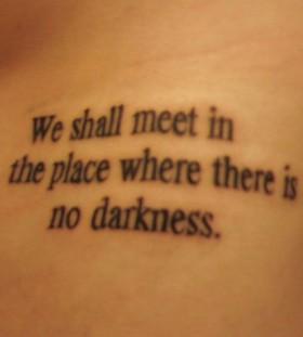Black word's love tattoo