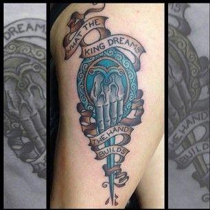 Blue crazy game of thrones tattoo