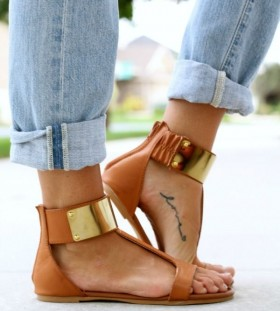 Blue jeans and fashion style tattoo