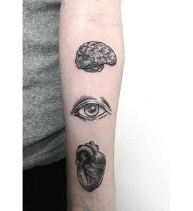 Brain lovely eye tattoo