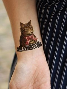 Cat cat temporary tattoo
