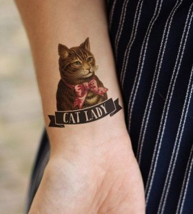 Cat lady quote cat tattoo