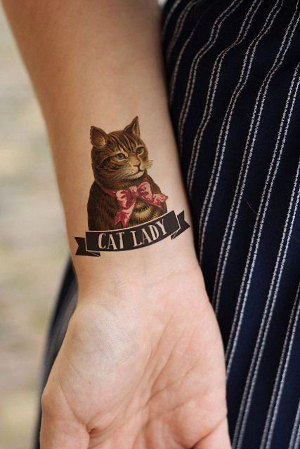 Cat lady quote cat tattoo