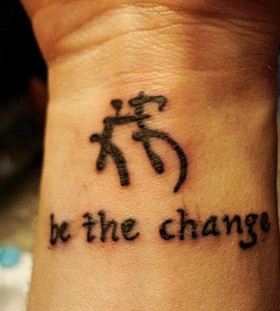 Chinese style meaningful tattoo
