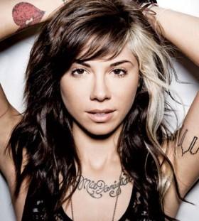 Christina Perri rockstar singers tattoo